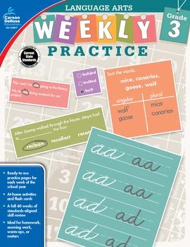 Weekly Practice Language Arts Grade 3 SALE 20% OFF 104877