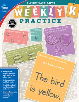 Weekly Practice Language Arts Grade K SALE 20% OFF 104874