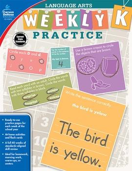 Weekly Practice Language Arts Grade K SALE 20% OFF 104874