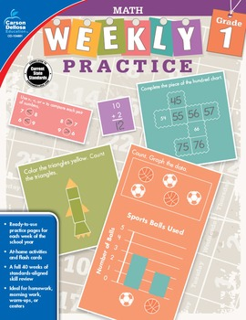 Weekly Practice Math Grade 1 SALE 20% OFF 104881