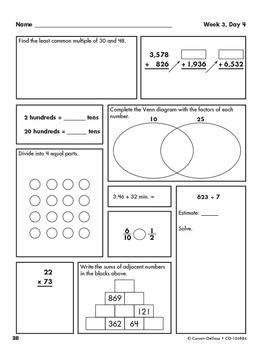 Weekly Practice Math Grade 4 SALE 20% OFF 104884