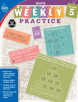 Weekly Practice Math Grade 5 SALE 20% OFF 104885