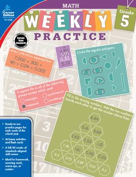 Weekly Practice Math Grade 5 SALE 20% OFF 104885