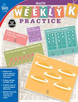 Weekly Practice Math Grade K SALE 20% OFF 104880