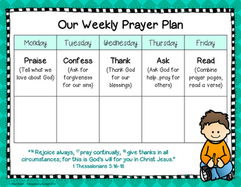 Weekly Prayer Plan