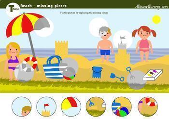 Weekly PreK theme : Beach