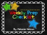 Weekly Prep Checklist-Stay Organized Form