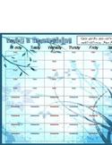 Weekly Priase & Thanksgiving sheet- blue