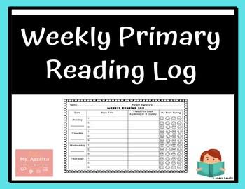 Weekly Primary Reading Log