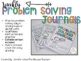 Weekly Problem Solving Journals {Growing Bundle}