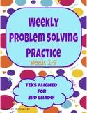 Weekly Problem Solving Practice  (Week 1 - 9)