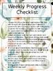 Weekly Progress Checklist