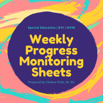 Weekly progress monitoring tracking sheet for teachers tpt for Tracking sheet template for teachers