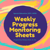 Weekly Progress Monitoring Tracking Sheets [For Teachers]