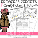 Parent Teacher Conference Forms & Progress Report Forms (E