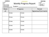 Weekly Progress Report