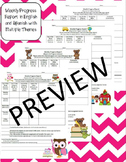 Weekly Behavior Progress Report in English and Spanish with Multiple Themes