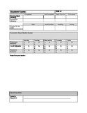 Weekly Progress Report for Students