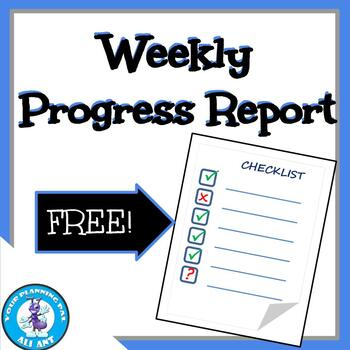 Progress Report for Student Projects | FREE!