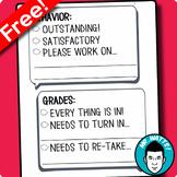 Weekly Progress Reports: Behavior + Grades (FREE)