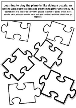 Weekly Puzzle Piece Practice Plan