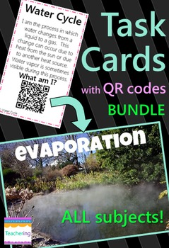 4th Grade Task Cards BUNDLE with QR codes {All subjects!}