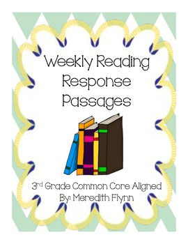 Weekly Quick Reading Passages for Comprehension - Common Core Aligned