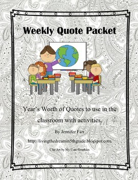 Weekly Quote Packet
