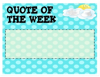 Character Building Quote of Week, Sunny Side Up!