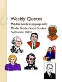 Weekly Quotes for Language Arts & Social Studies--Student Form