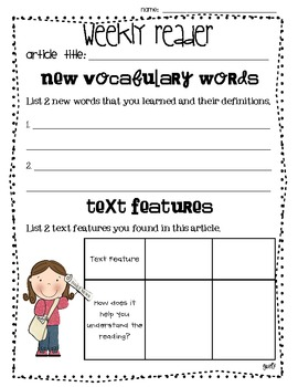 Weekly Reader Printables Common Core Aligned