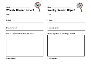 Weekly Reader Report