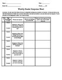 Weekly Reader Response Sheet