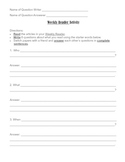 Weekly Reader or Time for Kids Partner Activity