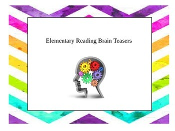 Weekly Reading Brain Teasers for Elementary Students