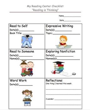 Weekly Reading Center Checklist