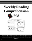 Weekly Reading Comprehension Log