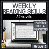 Weekly Reading Comprehension Skills | Africville