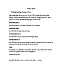 Weekly Reading Fluency Acitvity