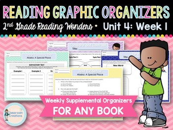 Weekly Reading Graphic Organizers (Unit 4, Week 1) 2nd Grade