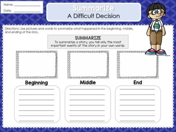 Weekly Reading Graphic Organizers (Unit 5, Week 1) 2nd Grade