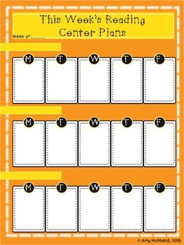 Weekly Reading Groups Planning Sheets