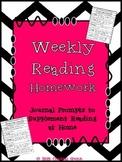 Weekly Reading Homework