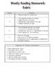 Weekly Reading Homework-September