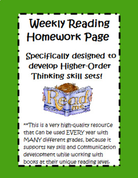 Weekly Reading Homework for Higher-Order Thinking