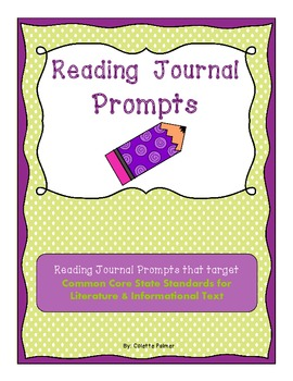 Weekly Reading Journal Prompts aligned with CCSS - Set One