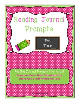 Weekly Reading Journal Prompts aligned with CCSS - Set Two