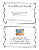 Kindergarten and 1st Grade Weekly Reading Journal with Award Certificates