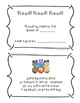 2nd and 3rd Grade Weekly Reading Journal with Award Certificates
