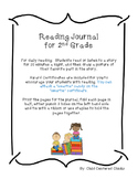2nd Grade Weekly Reading Journal with Award Certificates